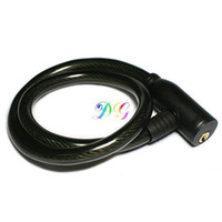 Wholesale S9Q High Quality Steel Spiral Cable Bicycle Bike Safety Combination Lock Black AAAAQK
