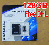 TF / Micro SD Card 128GB 100pcs 128GB Micro SD Card Class 10 128 gb Micro SDHC TF Memory Card OEM ODM free adapter for Samsung iphone 6 Smartphones tablet free DHL 100pcs