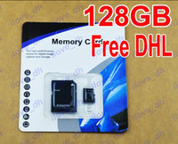 TF / Micro SD Card 128GB 100pcs 128GB Micro SD Card Class 10 128 gb Micro SDHC TF Memory Card OEM ODM free adapter for Samsung huawei iphone 6 Smartphones free DHL 100pcs