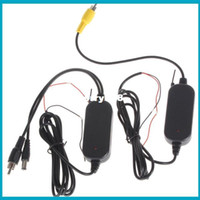 Parking Assistance 2370MHZ Black 2.4G Wireless Color RCA Video Transmitter Sender and Receiver Kit for Vehicle Car Rearview Monitor DVD to Reverse Camera