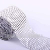 other diamond mesh wrap - 2014 New yard Silver Color Diamond Mesh Wrap Roll Rhinestone Crystal Looking Ribbon Trim Wedding Party Decoration