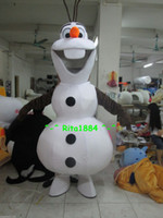 Mascot Costumes Unisex Free Size Hot Sale Smiling Frozen Olaf Mascot Costume Fancy Party Dress Suit Free Shipping
