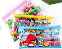 PVC   8%off!IN STOCK!on sale!PVC pencil case! Students pencil, cartoon pencil case, pencil Angry Birds! Fashion zipper!DROP SHIPPING!24PCS lot.HZ