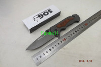 Wholesale New SOG FA05 quick folding knife Cr13 hrc steel head wood handle Tactical knives hunting camping tools A426