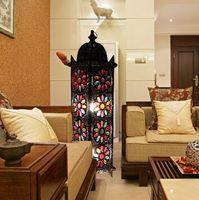 European Luxury Bohemian Retro Floor Lamp Floor Standing Lam...