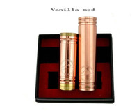 Non-Adjustable   copper vanilla mod 1:1 clone copper vanilla mod e cig vaporizer pen ecig VS stingray stainless nemesis 26650 panzer and kayfun atomizer DHL