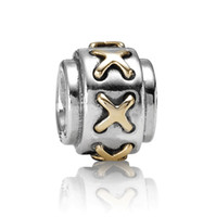 Cross authentic troll bead - Beads Authentic Sterling Silver Solid Core Charm Fits Pandora Chamilia Biagi Troll Beads Europen Style Bracelets X242