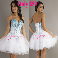 Reference Images Organza Sweetheart Cheap In Stock Only $59.9 2014 Homecoming Dresses Sexy Sweetheart Sequins Crystals Organza A-Line Short Mini Cocktail Party Gowns CPS051