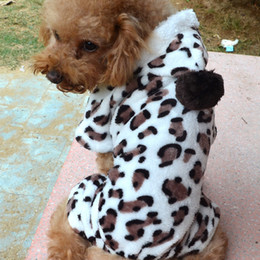 Brand New Dogs Clothes For Dog Boys Girls Adorable Leopard Dog Coat for Dog Hoodie Dog Clothes Soft Cozy Pet Clothes,Brown Drop Shipping