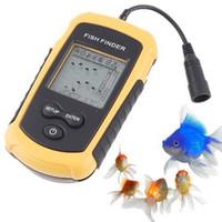 Wholesale 1PC Portable Sonar Sensor Fish Fishing Finder Alarm Transducer freeshipping
