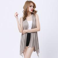 Novelty Dovetail Hem Vest Coat Women European Sleeveless Long Cloak