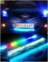 Wholesale Color cm LED RGB Car Knight Rider Flash Strobe Strip Light Waterproof Kit
