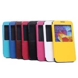 Wholesale Window Leather Stand Case With TPU Case For Galaxy S5 S5 mini Note Note mini S4 S4 mini S3 C S S PC