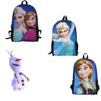 Wholesale 2014 Frozen characters Elsa Anna Girls School bag Book Bag Backpack New