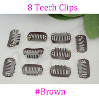 Wholesale bag mm T metal hair snap Clips with silicone for wig Hair Extension Black Blonde Brown Optional
