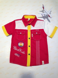 Wholesale children s clothing new short sleeved shirt Paul boys cotton shirt POLO shirt large child