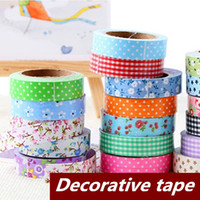Wholesale 12 Cotton Adhesive tape masking Japanese tape Decorative tape Scrapbooking sticky Stationery School supplies