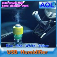 Wholesale 4 colour USB Bottle Caps Portable Mini Water Humidifier Aroma Air Diffuser Mist Maker for home office car Bottle Cap