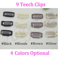 Wholesale bag mm T metal hair snap Clips with silicone accessories for wig Hair Extension Black Blonde Brown Silver colors