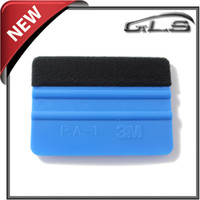 Wholesale 4x3Inch Plastic Tool Top Quality With Felt M Squeegee For Car Vinyl Film Wrapping Felt Pieces per Set