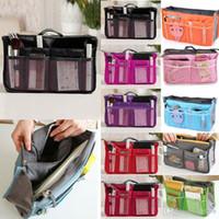 Wholesale 20pcs Women Organizer Organiser Travel Bag Purse Handbag Insert Liner Large Tidy bx84
