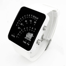 Wholesale Led electronic watches fan shaped blu ray gift