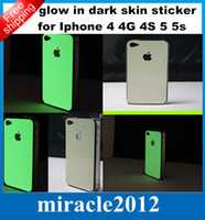 Wholesale Luminous Glow in the Dark Full Body Protector Film Front Back Side Sticker Wrap Skin Sticker for iPhone G S G Hight Qulity