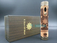 Wholesale X Gun VV Mod Variable Voltage Vaporizer Mod Stainless Copper Wood Material with LCD display Battery amp Vision X Fire I X Fire II E Fire