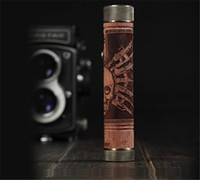 Wholesale Wooden N Fire Max E Cigarette Mechanical Mod Wood Battery N Fire Max Mod For Battery Mech Mod E cig Cool Pattern with LCD Display