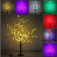 Christmas Tree lamp supplies - New Arrival LED Cherry Blossom Christmas Tree Lighting P65 Waterproof Garden Landscape Decoration Lamp For Wedding Party Christmas Supplies