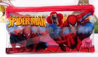 PVC   9%off!IN STOCK!Cartoon Pencil for students, PVC pencil case, pencil Disney! Fashion zipper! Spider-Man!DROP SHIPPING!hot sale,24PCS lot.HZ