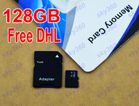 TF / Micro SD Card 128GB 50pcs 128GB Micro SD Card Class 10 128 gb Micro SDHC TF Memory Card factory OEM ODM free adapter Package for Samsung iphone 6 sky360 50pcs