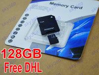 TF / Micro SD Card 128GB 50pcs 128GB Micro SD Card Class 10 128 gb Micro SDHC TF Memory Card factory OEM ODM free adapter Package for Samsung iphone 6 free DHL 50pcs