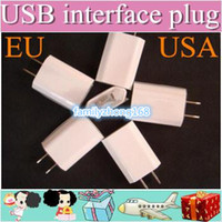 Wholesale AC Power Adapter US Plug USB Wall Travel Charger US EU Adapter for iphone S for Samsung Galaxy Cellphones Multi color
