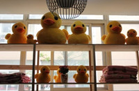 Unisex 5-7 Years Anime & Comics 20CM Lovely rhubarb duck Plush toys Yellow duck doll Rubber duck doll plush toy pendant accessories manufacturers do handicrafts