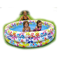 Floatation Devices Plastic Geometric Intex 168*41cm swimming pool inflatable kid pool 3 ring pool