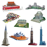 Wholesale Two sets of world shipping D puzzle paper model building model can pick a variety of three dimensional assembly