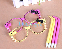 Wholesale 2014 Fashion Colorful Glasses Ball Point Pen SUNGLASSES SHAPED Dollhouse miniature Toy Promotion Gift ePacket