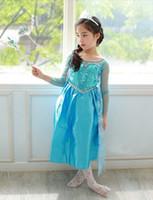 Cheap TuTu frozen dress Best Summer Trumpet / Mermaid girls dress
