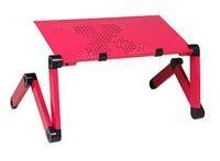 Metal School Furniture Computer Desk New Aluminum Laptop Table Folding Computer Desk Bed Table Desk Free Big Fan 420mm Desktop Black Y4090A21 C21 Alishow