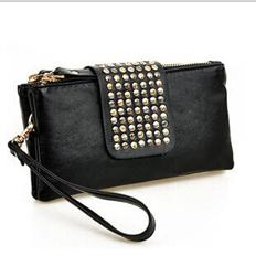 Wholesale Hot Fashionable Korean Style PU Leather Ladies Clutch Wallet Evening Bag Newbag001