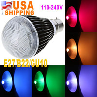 Wholesale US Stock To USA CA GU10 E27 B22 W LM RGB LED Light Million Color Voice Music Control Bulb Lamp IR Remote V