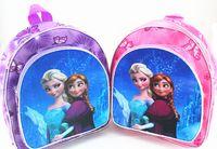 fabric for kids - New children frozen schoolbag oxford fabric frozen kids backpacks lovely girls book bags Elsa Anna printed girl satchel handbag for age3 T