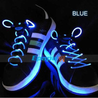 Wholesale Funny cm Length Flashing Shoelaces LED Decor Light Luminous Shoestrings Shoe Laces with ABS Plastic