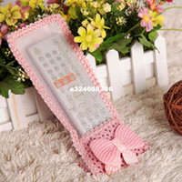 Wholesale cute Rustic cartoon lace decoration tv machine air conditioning remote control cover protective case drop shipping SHB087