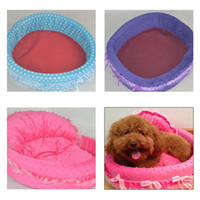 Wholesale New Princess Cute Cozy warm Soft Lace Pet Bed house For Dog Puppy Cat SZY