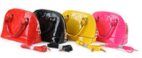Wholesale retail kids handbag patent leather handbag cross bag for children kids lady girl lemon red balck kids purse wallet