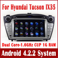 Wholesale Android Car DVD Player GPS Navigation for Hyundai Tucson IX35 with Radio TV BT USB SD AUX G WIFI Stereo Audio G CPU G RAM