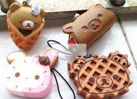 squishy - 6cm Cute Bag Charm Lanyard Rilakkuma Squishies Squishy Bun Mobil Phone Straps