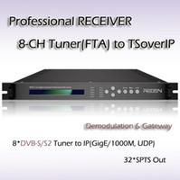 Wholesale RFR1132 Eight Channel digital tv Professional Receiver DVB S S2 Tuner input IPTV streaming Output